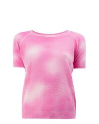 T-shirt à col rond en tricot rose Avant Toi