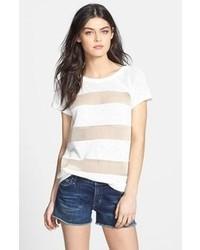 T-shirt à col rond en tulle blanc
