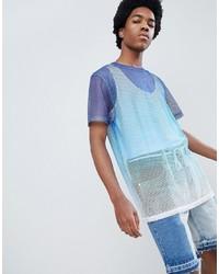 T-shirt à col rond en tulle bleu clair ASOS DESIGN