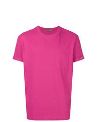 T-shirt à col rond fuchsia