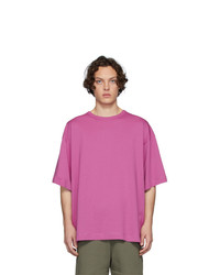 T-shirt à col rond fuchsia Dries Van Noten