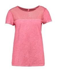 T-shirt à col rond fuchsia s.Oliver