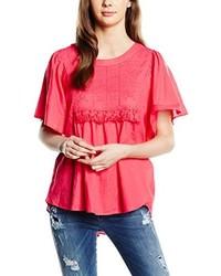 T-shirt à col rond fuchsia Vero Moda