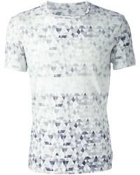 T-shirt à col rond géométrique blanc Paul Smith
