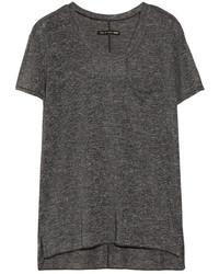 T-shirt à col rond gris foncé