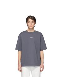 T-shirt à col rond gris foncé Acne Studios