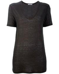 T-shirt à col rond gris foncé Alexander Wang