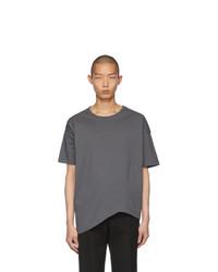 T-shirt à col rond gris foncé Bottega Veneta