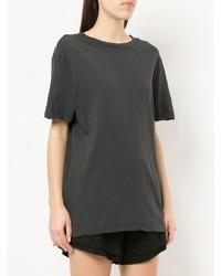 T-shirt à col rond gris foncé Bassike