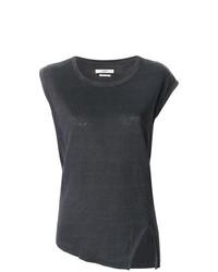 T-shirt à col rond gris foncé Isabel Marant Etoile