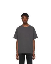 T-shirt à col rond gris foncé John Elliott