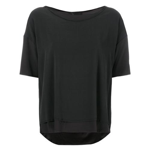 T-shirt à col rond gris foncé Kristensen Du Nord