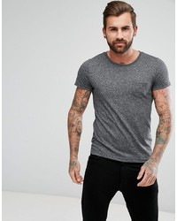 T-shirt à col rond gris foncé Lee