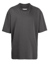 T-shirt à col rond gris foncé Maison Margiela