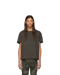 T-shirt à col rond gris foncé R13