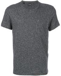 T-shirt à col rond gris foncé Tom Ford