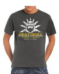 T-shirt à col rond gris foncé Touchlines