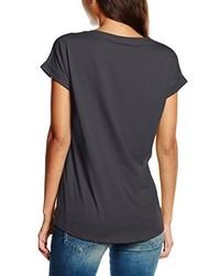 T-shirt à col rond gris foncé Vila