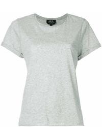 T-shirt à col rond gris A.P.C.