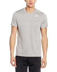 T-shirt à col rond gris adidas