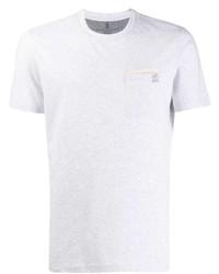 T-shirt à col rond gris Brunello Cucinelli
