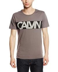 T-shirt à col rond gris Calvin Klein Jeans