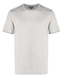 T-shirt à col rond gris Canali