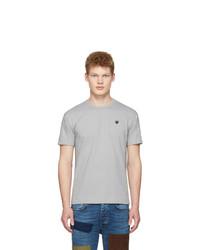 T-shirt à col rond gris Comme Des Garcons Play
