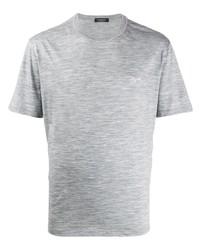 T-shirt à col rond gris Ermenegildo Zegna