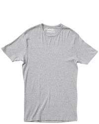 T-shirt à col rond gris Garage