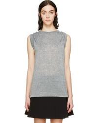 T-shirt à col rond gris Isabel Marant