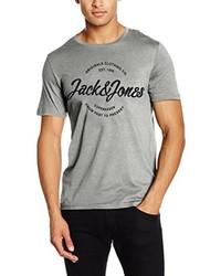 T-shirt à col rond gris Jack & Jones