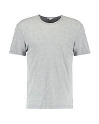 T-shirt à col rond gris James Perse