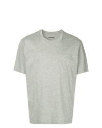 T-shirt à col rond gris Jil Sander