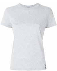 T-shirt à col rond gris Kenzo
