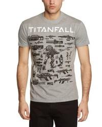 T-shirt à col rond gris Le Vert Sacr