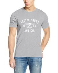 T-shirt à col rond gris Levi's