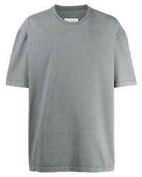 T-shirt à col rond gris Maison Margiela