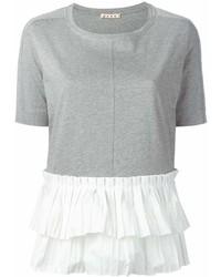 T-shirt à col rond gris Marni