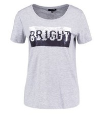 T-shirt à col rond gris More & More