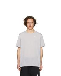 T-shirt à col rond gris Nike