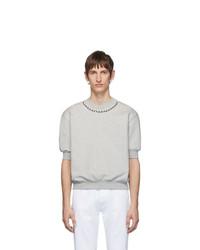 T-shirt à col rond gris Random Identities