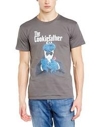 T-shirt à col rond gris Sesame Street