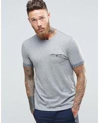 T-shirt à col rond gris Ted Baker