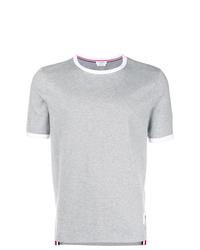 T-shirt à col rond gris Thom Browne