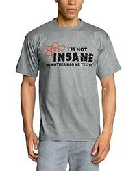 T-shirt à col rond gris Touchlines