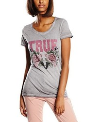 T-shirt à col rond gris True Religion