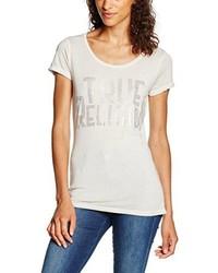 T-shirt à col rond gris True Religion