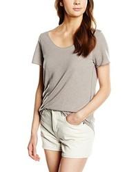 T-shirt à col rond gris Vero Moda