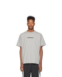 T-shirt à col rond gris Vetements
